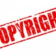 Copyright red stamp text — Stock Vector