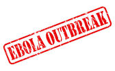 Ebola outbreak red stamp text — Stock Vector