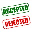 Accepted with red and rejected with green text on white — Vector de stock  #57352439