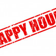 Happy hour red stamp text — Vecteur #58080547