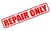 Repair red stamp text — Stock Vector