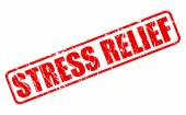 Stress relief red stamp text — Stock Vector