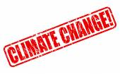 Climate change red stamp text — Stock Vector