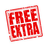 Free extra red stamp text — Stock vektor
