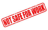 Not safe for work red stamp text — Stock Vector