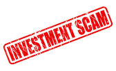Investment scam red stamp text — Stock Vector