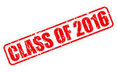 Class of 2016 red stamp text — Stock Vector