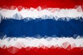 Abstracte Thailand vlag veelhoek — Stockvector