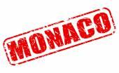 Monaco red stamp text — Stock Vector
