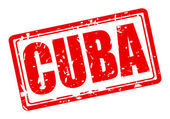Cuba red stamp text — Stock Vector