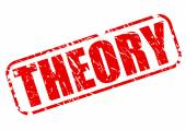 THEORY red stamp text — Stock Vector