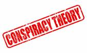 CONSPIRACY THEORY red stamp text — Stock Vector