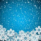 Abstract winter blue snowflakes background  — Stock Vector
