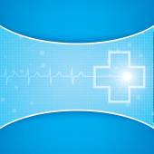 Abstract medical cardiology ekg background — Stock Vector