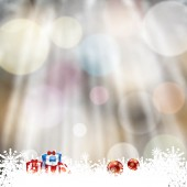Blurry forest background with frozen snowflakes — Stock Vector