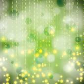 Abstract molecule green background — Stock Vector