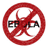 Ebola virus abstract grunge alert symbol — Vetor de Stock