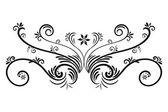 Hand drawn vector swirl flower elements — Stock Vector