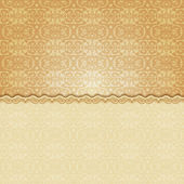 Vintage background, antique floral pattern  — Stock Vector