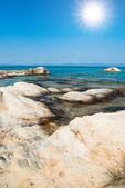 Amazing beach Greece Sarti — Stock Photo