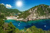 Amazing beach Greece Corfu — Stock Photo
