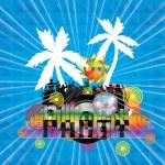 Summer beach Party flyer design — Stock Vector #75217037