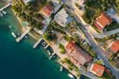 Aerial view of croatia coast line Rab island — Stock Photo