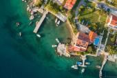 Aerial view of croatia coast line Rab island — Foto de Stock