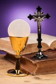 Holy communion close up — Stock Photo