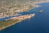 Vista aérea de la línea de la costa de croacia — Foto de Stock