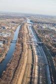 Aerial view of Wroclaw city — Stok fotoğraf