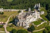 Aerial view of Pilica castle — Stock Photo