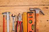 Wood mounting tools — Stock Photo