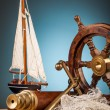 Anchor and marine gadgets — Stock Photo #65248861