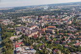 Aerial view of Nysa city — Stock Photo