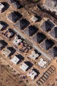 Aerial view of building houses site — 图库照片