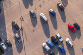 Aerial view of car parking — Stock Photo