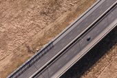 Aerial view of highway — Stock Photo