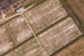 Аэрофотоснимок футбольном манеже в городе Вроцлав — Стоковое фото
