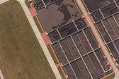 Luchtfoto van afvalwaterbehandeling — Stockfoto
