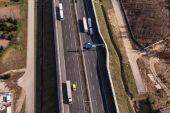 Aerial view of highway in Poland — Foto Stock