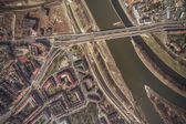 Aerial view of Wroclaw city center — Stock Photo