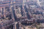 Aerial view of a Wroclaw city suburbs — Stock Photo