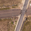 Aerial view of the railway crossroad — Stock Photo #68935175