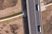 Aerial view of highway  — Stockfoto