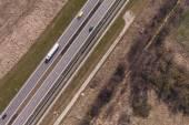 аэрофотоснимок шоссе — Стоковое фото