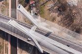 Aerial view of highway bridge — Stockfoto