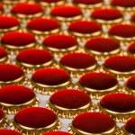 Golden bottle caps — Stock Photo #69093697