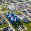 Aerial view of sewage treatment plant — Stock Photo #72240175