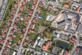 Aerial view of  the Klodzko city — Stock Photo